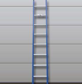 Ladder gebogen 1 x 10 treden
